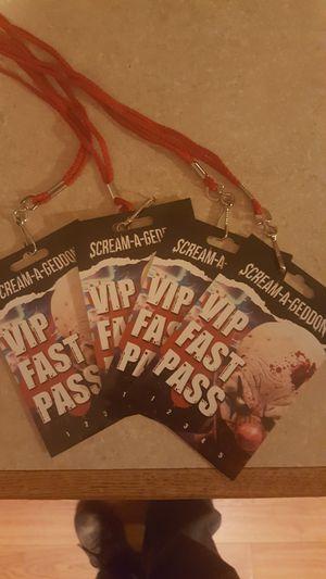 VIP passes to screamageddon for Sale in Spring Hill, FL
