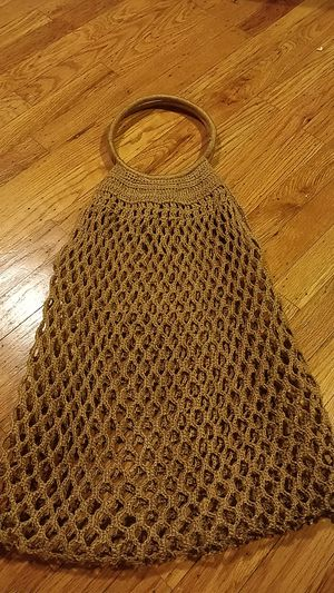 Large macrame bag, antique for Sale in Seattle, WA