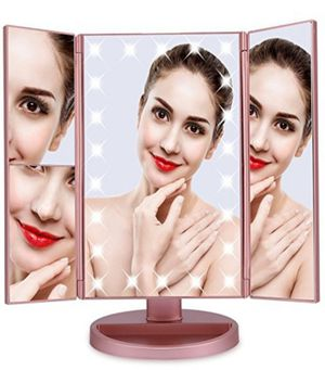 *9 Remaining* Rose Gold Tri-Fold 22 Led Lights Vanity Makeup Mirror for Sale in Ontario, CA