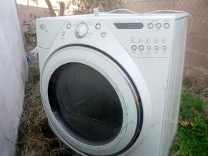 Samsung lg front loader and whirlpool duet dryer. Electric in very good condition. Both appliance at $250 but will negotiate selling separately. for Sale in San Bernardino, CA