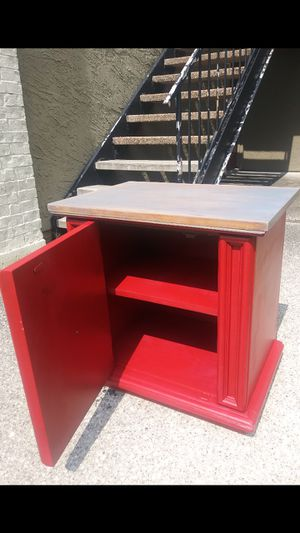 1 nightstand. Color red. 25 inches long (left to right), 17 inches wide (front to back), 26 inches tall. OBO for Sale in Mesquite, TX