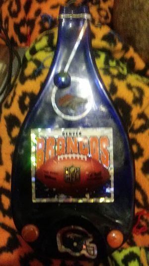 Denver Broncos flattened glass bottle for Sale in Aurora, CO