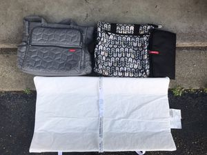 Changing table mattress and two baby travel bags for Sale in Washington, PA