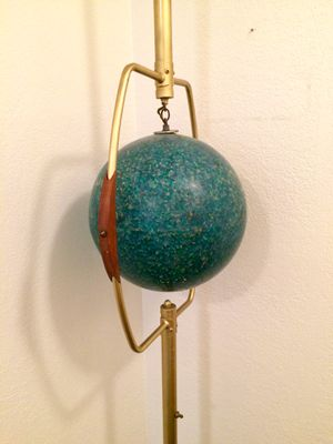 Mid Century Modern Tension Pole Globe Lamp for Sale in Tampa, FL