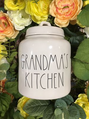 rae dunn grandma's kitchen canister for Sale in Duluth, GA