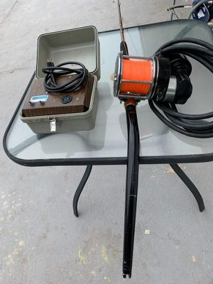 LP Lindgren-Pitman electric fishing reel with convert speed box and Custom rod swordfish deep drop for Sale in Miami, FL