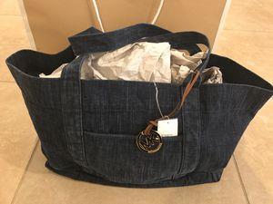 Michael Kors Denim XL Indigo Tote Bag for Sale in Moreno Valley, CA