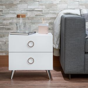 New Elms Black brown or White Bed Nightstand end table for Sale in Miami, FL