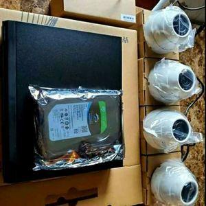 4 Security cameras System+labor- Hablo Espanol for Sale in Dallas, TX