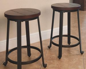 Counter Height - Set of 2 - Rustic Brown from ashley furniture for Sale in Tolleson, AZ