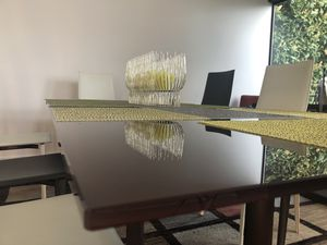 Mid-century modern expandable glass dining table for Sale in Seattle, WA