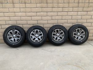 Jeep Wrangler Wheels & Tires Set Of 4 for Sale in West Covina, CA