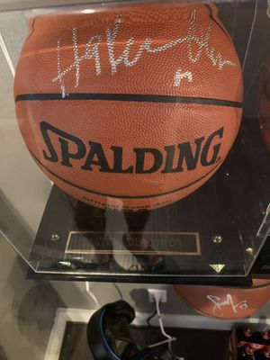 Signed Hakeem Olajuwon Ball and Case for Sale in Dallas, TX