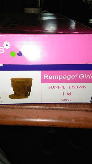 Rampage girls boots bunnies brown size 1m kids for Sale in Knoxville, TN