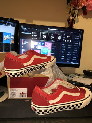Red Marshmallow Checkerboard Vans Shoes for Sale in Chandler, AZ