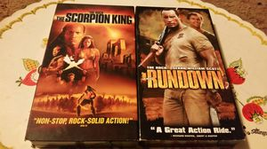 "Dwyane ""The Rock"" Johnson VHS Lot: Scorpion King, Rundown for Sale in San Bernardino, CA"