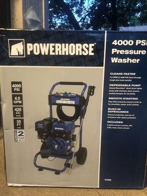 4000 psi Powerhorse Pressure Washer for Sale in Fort Worth, TX