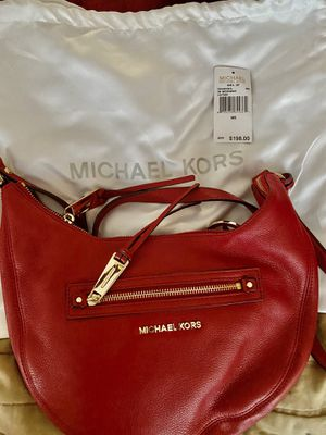 MK Red Leather Messenger Bag for Sale in Portsmouth, VA