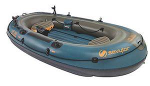 Sevylor Fish Hunter Boat raft/oars/anchor/Floating Cooler for Sale in Hillsboro, OR