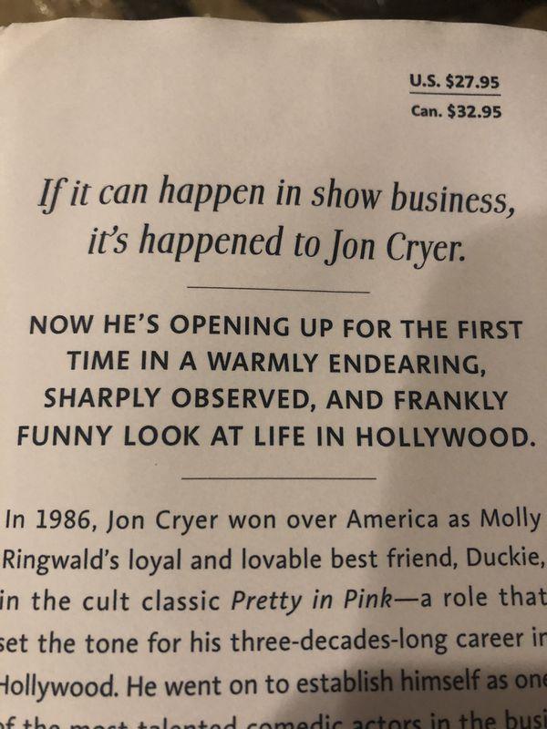 Jon Cryer (Two and a Half Men) Memoir: So That Happened