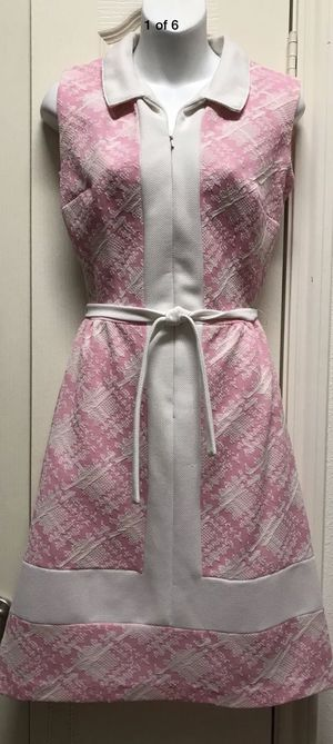 Vintage Pink and White Sleeveless Summer Dress for Sale in Katy, TX