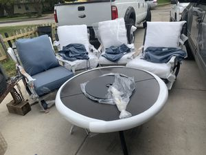 Hampton bay 5 piece steel patio pit furniture $559 for Sale in Mesquite, TX