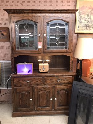 Wood China hutch/cabinet for Sale in Oklahoma City, OK