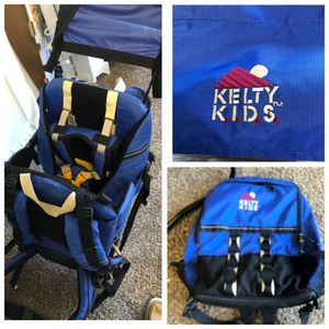 KELTY KIDS EXPLORER kid carrier backpack removable sun shade, xTra padded hip/shoulder/great shape for Sale in Mission Viejo, CA
