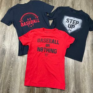 Youth Bundle* Under Armour Baseball shirts* youth medium for Sale in Sagle, ID