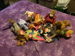 Beanie babies with tags qty 9, teenie beanie babies qty 3 for Sale in Fresno, CA