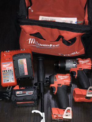 Milwaukee m18 hammer drill with handle and compact impact hex driver like dewalt max Bosch makita for Sale in Cicero, IL