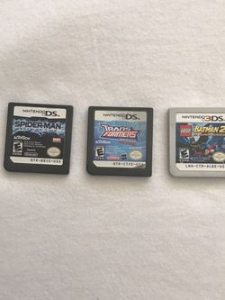 Nintendo DS Games Spider-Man $10, Transformers $7, 3Ds LEGO Batman 2 $7 All Games Play Fine for Sale in Reedley,  CA