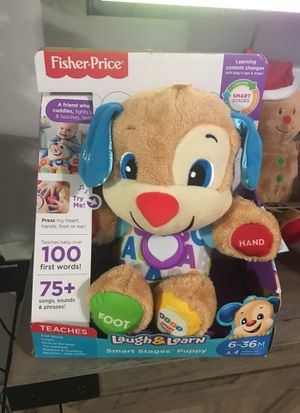 New in box fisher price laugh and learn stuffed animal bear for Sale in Belle Glade, FL