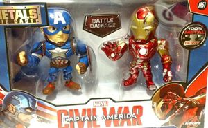 1 New Marvel Avengers Civil War Captain America vs Ironman M51 Metals Die Cast for Sale in El Paso, TX