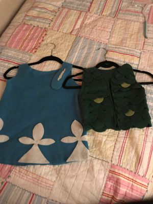 Trolls costume size 4 -6 girls dress and 2 -4 boys vest for Sale in Los Angeles, CA