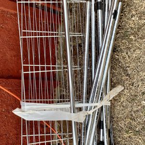 Garment Rack With White Canvas Cover for Sale in Kingman, KS