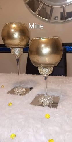 2pc Gold Candle Holder Set for Sale in Peoria,  IL