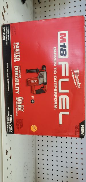 """Milwaukee M18 Fuel SDS Plus Rotary Hammer Drill 1"""" - TOOL ONLY for Sale in Chicago, IL"""
