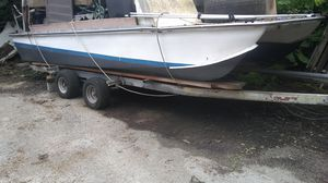 Fiberglass workboat fiberglass catamaran for Sale in Miami, FL