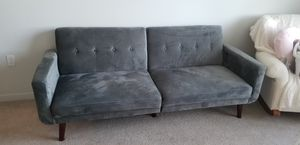 Gray Microfiber Velvet Futon couch Sofa for Sale in Golden Oak, FL