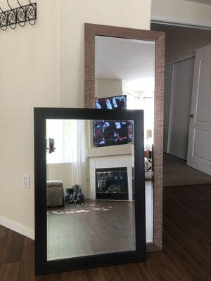 "Espresso Woodgrain Wall Mirror 41""x 29"" Hangs Both Ways for Sale in Henderson, NV"