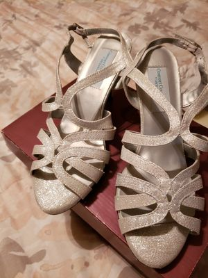 8.5 silver strappy shoes for Sale in Stockton, CA