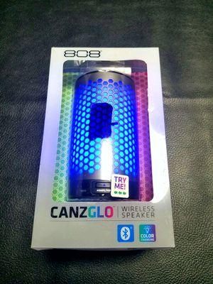 New Open Box 808 CANZ GLO Bluetooth Wireless Speaker, Gunmetal. for Sale in Danville, VA