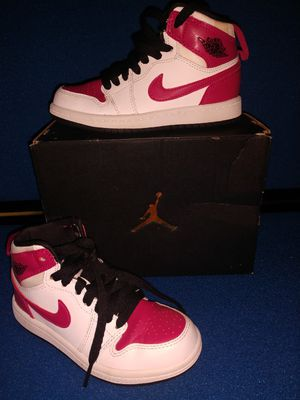 Girls kids Jordan 1 RETRO HIGH GP Pink & White size 11c shoes sneakers for Sale in Hyattsville, MD
