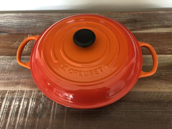 4 Le Creuset Pieces, barely used, excellent condition