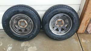 2 trailer tires size 185/14 for Sale in Fontana, CA