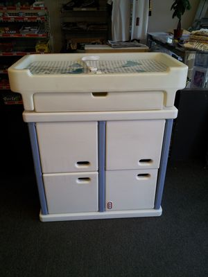 Little Tikes changing table, basinette, bed, storage unit. for Sale in McKees Rocks, PA