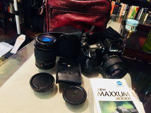 Minolta Maxxum 3000i with extra lense . for Sale in Austin, TX