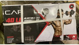 CAP 40 lbs Adjustable Cast Iron Dumbbell Set for Sale in Great Falls, VA