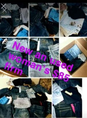 Pants bundle all womans all different sizes all different brands pants Jean's capris exercise bottoms great for resale for Sale in Riverside, CA